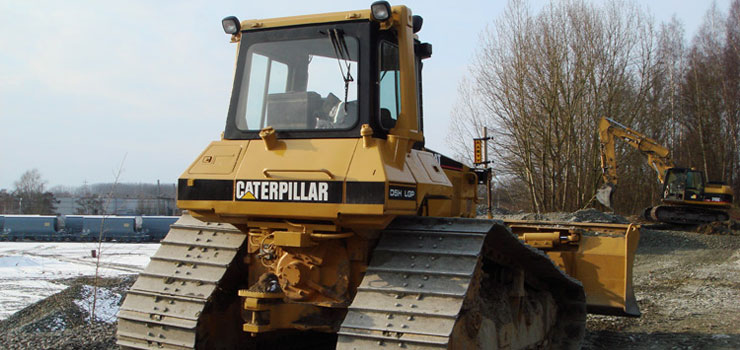 Une machine Caterpillar